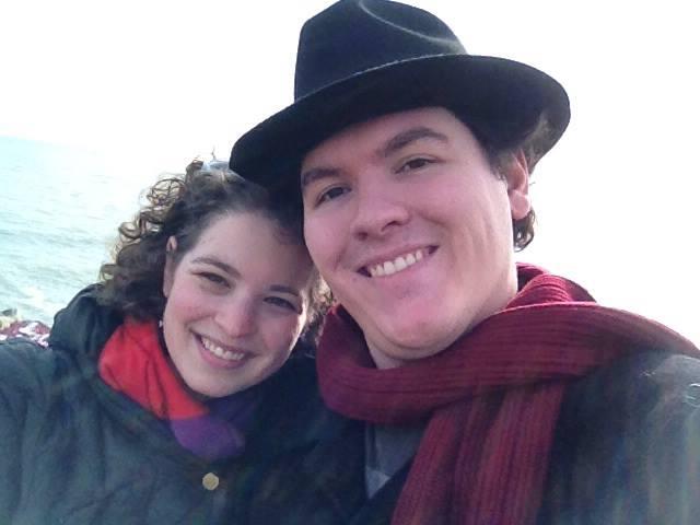 Me and James and Lake Michigan!